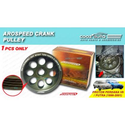 Proton Perdana V6 / Putra 4G91 4G92 4G93 Arospeed Harden Lighten Light Weight Crank Pulley (T6061 Aluminium)