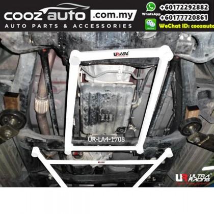 Isuzu D-Max 3.0D 08 Auto 1st Gen Facelift Ultra Racing Front Lower Bar 4 Points