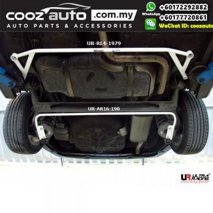 Chevrolet Aveo T250 1.5 2005 Ultra Racing Rear Lower Bar Member Brace (4 Points)