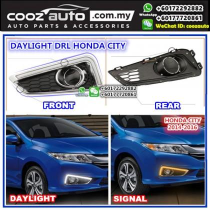 Honda City 2014-2016 Daylight Daytime Running Light DRL + Signal + Fog Lamp Cover