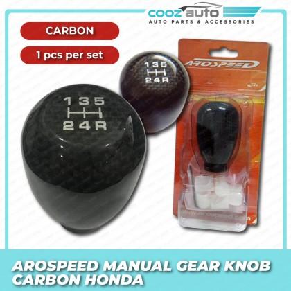 Arospeed Type R Aluminium Shift Knob / Gear Knob - Carbon Fiber - Manual - Honda