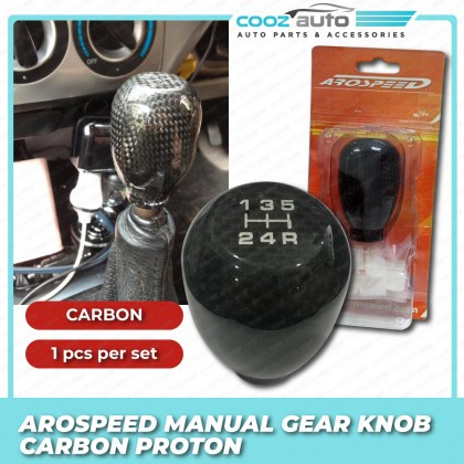 Arospeed Type R Aluminium Shift Knob / Gear Knob - Carbon Fiber - Manual - Proton
