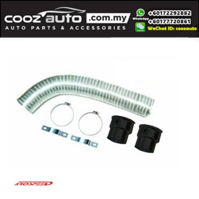 Arospeed Aluminium Flexible Adjustable Extendable Cold Air Induction System / Cool Air Intake - BLACK