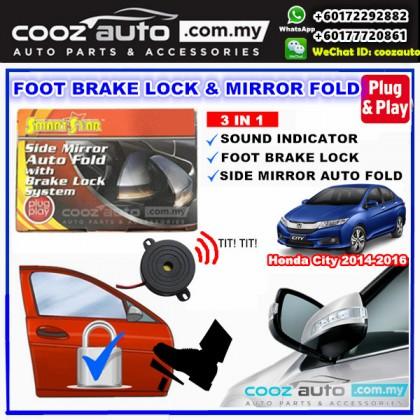 HONDA CITY 2014-2016 Smartstar 3 IN 1 Side Mirror Auto Fold + Buzzer+ Brake Lock