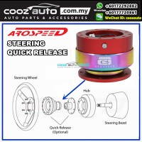 Arospeed Steering Wheel Quick Release Kit Gen 1.0 Red with Rainbow Ring