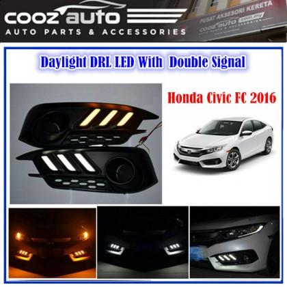 HONDA CIVIC FC 2016 - 2018 Daylight Daytime DRL + Signal + Fog Lamp Cover
