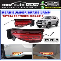 Toyota Fortuner 2016 - 2018 (Type C) LED Rear Bumper Reflector Brake Lamp Light