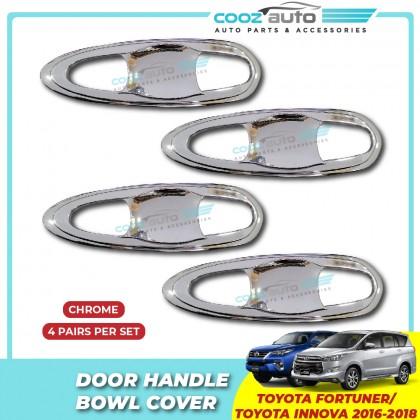 Toyota Fortuner Innova 2016 - 2018 Chrome Door Handle Inner Bowl Inserts Cover