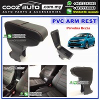 Perodua Bezza Pvc Arm Rest Armrest Console Black Leather Red Stitching
