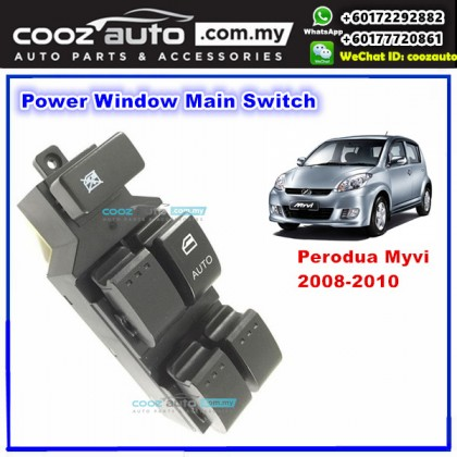 Perodua Myvi 2008 - 2010 Power Window Main Switch Right Driver Side