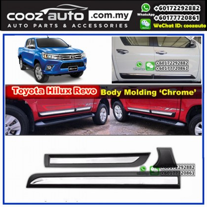 Toyota Hilux Revo 4x4 Side Doors Cladding Molding Trim Guard Body Moulding