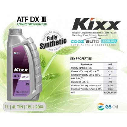 Kixx ATF DX-III Dexron-III Fully Synthetic Automatic Transmission Fluid (1 liter)