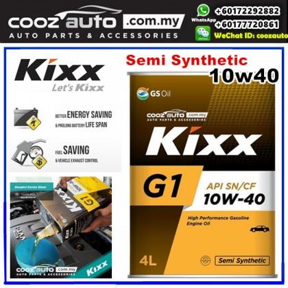 Kixx G1 10W40 Semi Synthetic Engine Oil Proton Saga BLM FLX Satria Suprima Waja