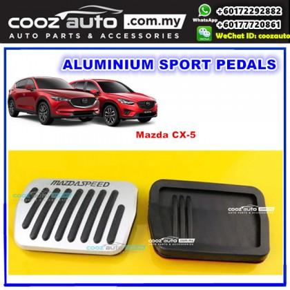Mazda CX-5 CX5 CX 5 2013-2018 Aluminium Auto Sports Foot Pedals (SILVER)