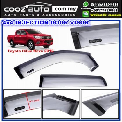Toyota Hilux Revo 2016 Anti UV Acrylic Injection Door Visor ( 2 Tone)