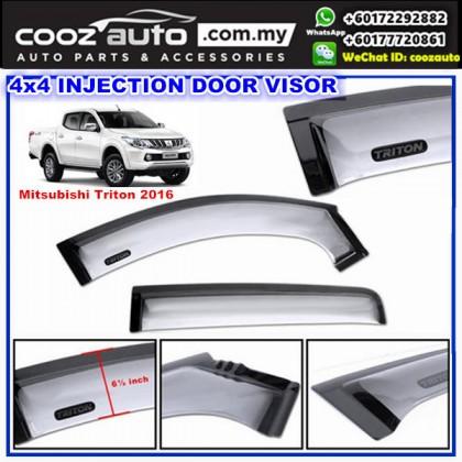 Mitsubishi Triton 2016 Anti UV Acrylic Injection Door Visor ( 2 Tone)