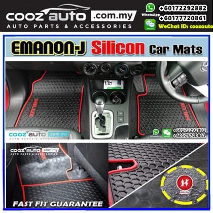 Perodua Myvi 2017 2018 EMANON-J Silicon Car Floor Mats Waterproof Carpet