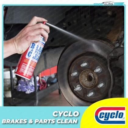 Cyclo Brake & Parts Clean Brake Pad Disc Rotor Cleaner Non-Chlorinated Formula (1 Bottle)