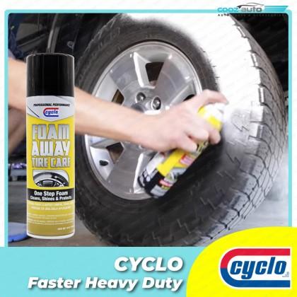 Cyclo Foam Away Tire Care Foaming No-Rinse Cleaner & Shine (1 Bottle)