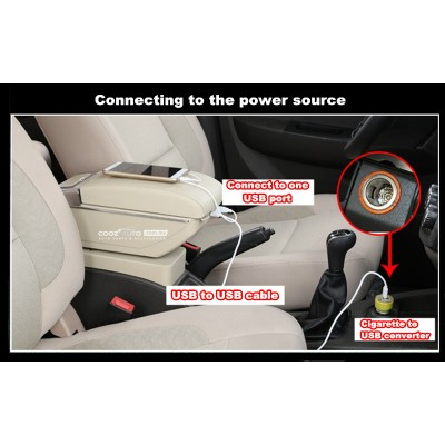 Perodua Myvi 2005 - 2015 USB Double Layer Arm Rest Armrest Console