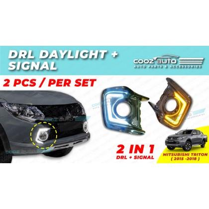 Mitsubishi Triton 2015 -2018 Daylight Daytime DRL + Signal + Fog Lamp Cover