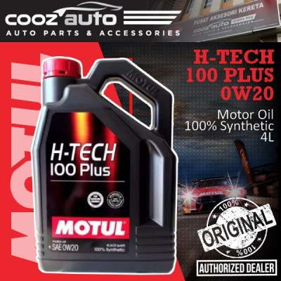 Motul H-TECH 100 Plus 0W20 4L H-TECH Engine Lubricants - 100% Synthetic