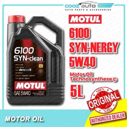 Motul 6100 SYN-nergy 5W40 5L 6100 Engine Lubricants - Technosynthese