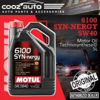 Motul 6100 SYN-nergy 5W40 5L 6100 Engine Lubricants - Technosynthese