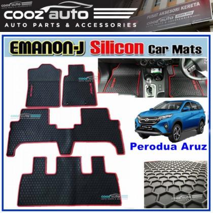 Perodua Aruz EMANON-J EVA Customized Odor-Free Car Floor Mats Waterproof Carpet