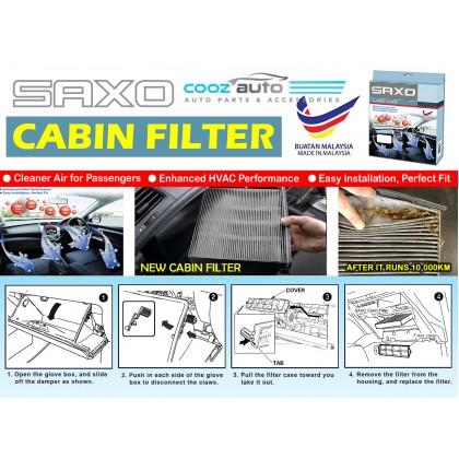 Honda CR-V CRV 2007 - 2012 Saxo Carbon Activated Cabin Air Cond Aircon Filter