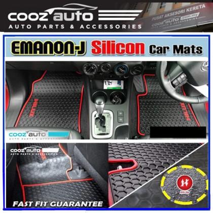 Nissan Navara NP300 2015 - 2019 EMANON-J Silicon Car Floor Mat Waterproof Carpet