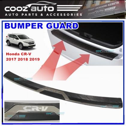 Honda CRV CR-V 2017 2018 2019 ABS Rear Bumper Guard Protector with Chrome lining