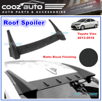 Toyota Vios 2013 - 2018 Roof Spoiler Matte Black Finish Rear Top Glass Shark Fin Spoiler Wing Diffuser