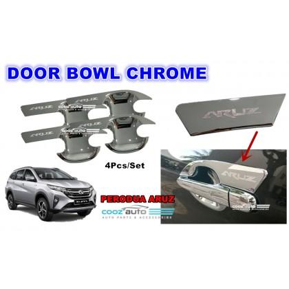 Perodua Aruz Door Bowl Cover Chrome Moulding Protector Guard