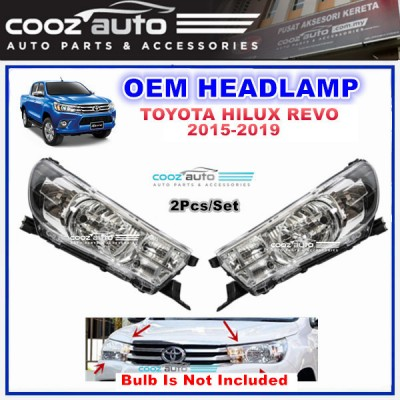 Toyota Hilux Revo 2015 - 2019 Front Right Driver Side HeadLamp Head Lamp Light (No Bulb)