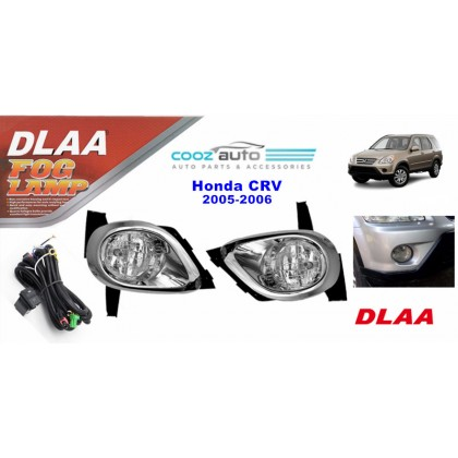 DLAA Honda CRV 2005 - 2006 Spotlight Fog lamp Fog light Foglamp Switch + Wiring