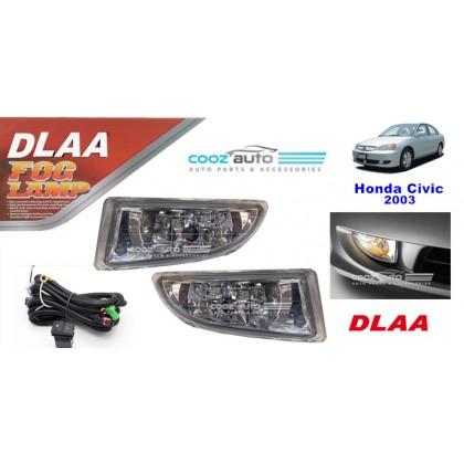 DLAA Honda Civic 2003 Spotlight Fog lamp Fog light Foglamp Switch + Wiring