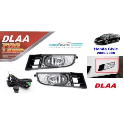 DLAA Honda Civic 2006 - 2008 Spotlight Fog lamp Fog light Foglamp Switch + Wiring