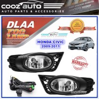 DLAA Honda Civic 2009 - 2011 Spotlight Fog lamp Fog light Foglamp Switch + Wiring