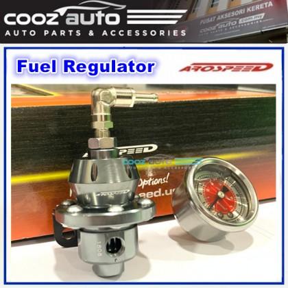 Arospeed Adjustable Fuel Pressure Regulator STAGE 1 - GUN METAL