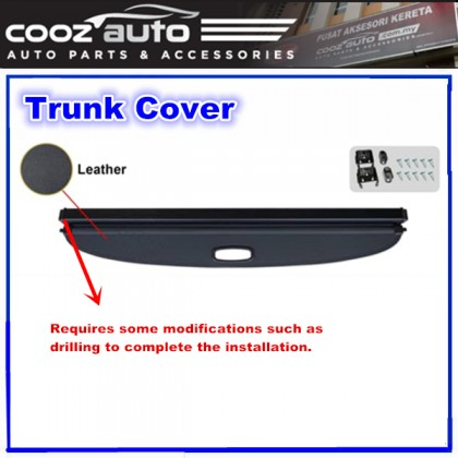 Toyota Harrier XU60 2013 - 2020 Black Retractable Rear Cargo Cover Trunk Shade Boot Security Shield Blind
