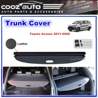 Toyota Avanza 2011 - 2020 Black Retractable Rear Cargo Cover Trunk Shade Boot Security Shield Blind