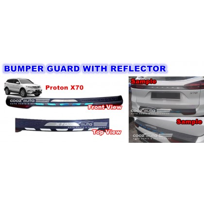 Proton X70 ABS Rear Bumper Guards Protector