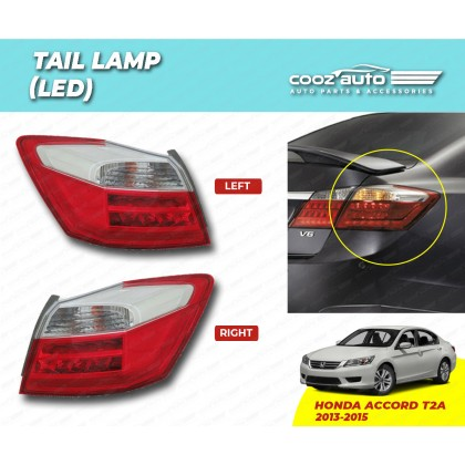 Honda Accord T2A 2013 - 2015 Rear Left & Right Side Taillight Taillamp Tail Lamp Led