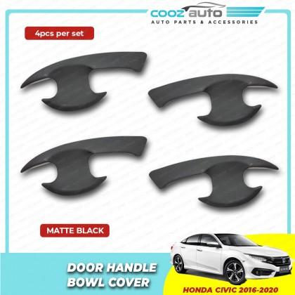 Honda Civic 2016 - 2020 Matte Black Door Handle Inner Bowl Inserts Cover