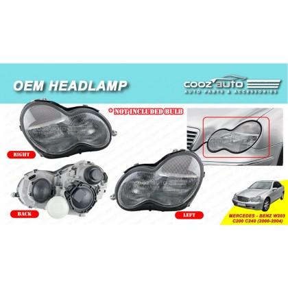 Mercedes Benz W203 C200 C240 2000 - 2004 Front HeadLamp Head Lamp Light (No Bulb)