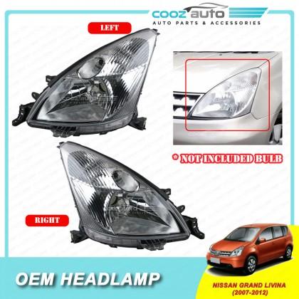 Nissan Grand Livina 2007 - 2012 Front HeadLamp Head Lamp Light (No Bulb)