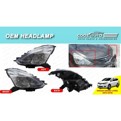 Nissan Grand Livina 2013 - 2018 Front HeadLamp Head Lamp Light (No Bulb)