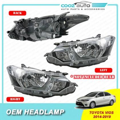 Toyota Vios 2014 - 2019 Front HeadLamp Head Lamp Light (No Bulb)