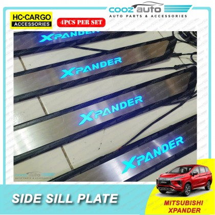 Mitsubishi XPander 2020 Hc Cargo LED Door Side Sill Step Plates Stainless